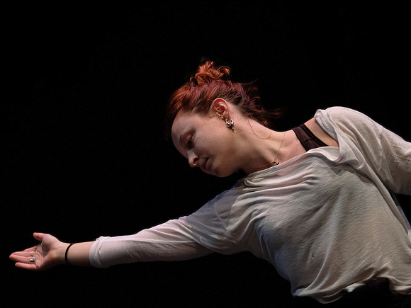 National Dance Company Wales in rehearsal at Theatr Brycheiniog, Brecon on 13th march.